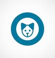 puppy bold blue border circle icon vector image