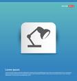reading lamp icon - blue sticker button vector image