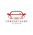 red car logo design vector image vector image