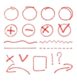 red highlight elements Circles arrows vector image vector image