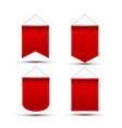 red pennant flag award banner blank pennant