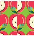 Seamless-Apple-pattern vector image vector image