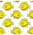 seamless pattern with yellow zebrasoma fish vector image vector image