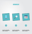 set of job icons flat style symbols with date vector image