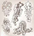set of tattoo vector image vector image