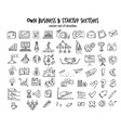 sketch business startup elements collection vector image