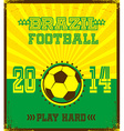 Soccer poster design vector image vector image