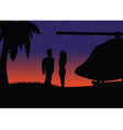 Sunset silhouette helicopter