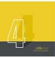 The number 4 vector image