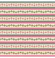 tribal flower stripes seamless pattern ethnic vector image