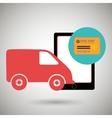 van shipping online store vector image vector image