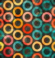 abstract color rings seamless vector image