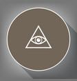 all seeing eye pyramid symbol freemason and vector image vector image