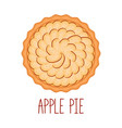 apple pie with cinnamon on white background top