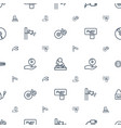 audio icons pattern seamless white background vector image vector image