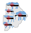 Big Five cross hairs Botswana vector image