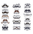 black and brown moustaches prostate awareness vector image