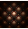 brown buttoned leather upholstery pattern texture vector image vector image
