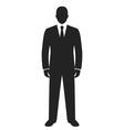 businessman standing black web icon vector image