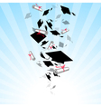 Caps Graduates Whirlwind in the Sky vector image