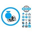 Cash Money Flat Icon with Bonus vector image vector image