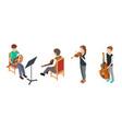 children musicians isometric characters vector image vector image