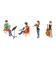 children musicians isometric characters with vector image vector image