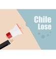 Chile lose Flat design business vector image vector image