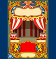 circus cartoon decoration vector image vector image