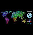 colored dotted world map vector image