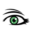 comic eye look optical style vector image vector image