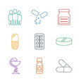 cure icons vector image vector image