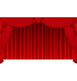 Curtain background isolated on white vector image vector image