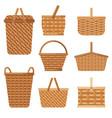 decorative basket handcraft basket for products vector image