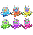Different colors of an octopus toy vector image vector image