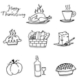 Doodle of Thanksgiving element party vector image vector image