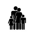 family icon flat design eps vector image