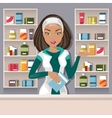 Female pharmacist vector image vector image