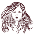 female-with-very-long-hair vector image