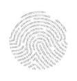 fingerprint digital identification circle unique vector image vector image