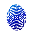 Fingerprint with eye vector image vector image