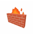 Firewall icon in cartoon style vector image vector image
