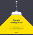 flat pendant light with sample text vector image vector image