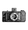 folding camera vector image vector image