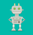 funny flat robot vector image vector image