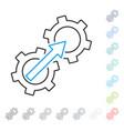 gear integration contour icon vector image vector image