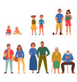 generations icons set vector image vector image