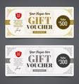 Gift voucher template with glitter gold vector image vector image