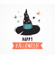 halloween party hand drawn modern cards set vector image vector image