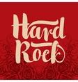 hard rock inscription vector image vector image